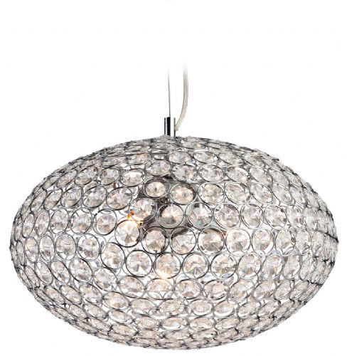 Firstlight 8625CH Chrome with Crystal Oval Pendant